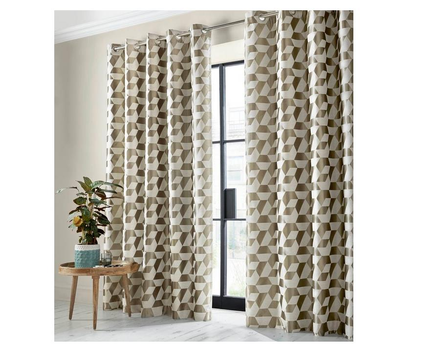 Geometric Blackout Curtains Uk Oh Decor Curtain