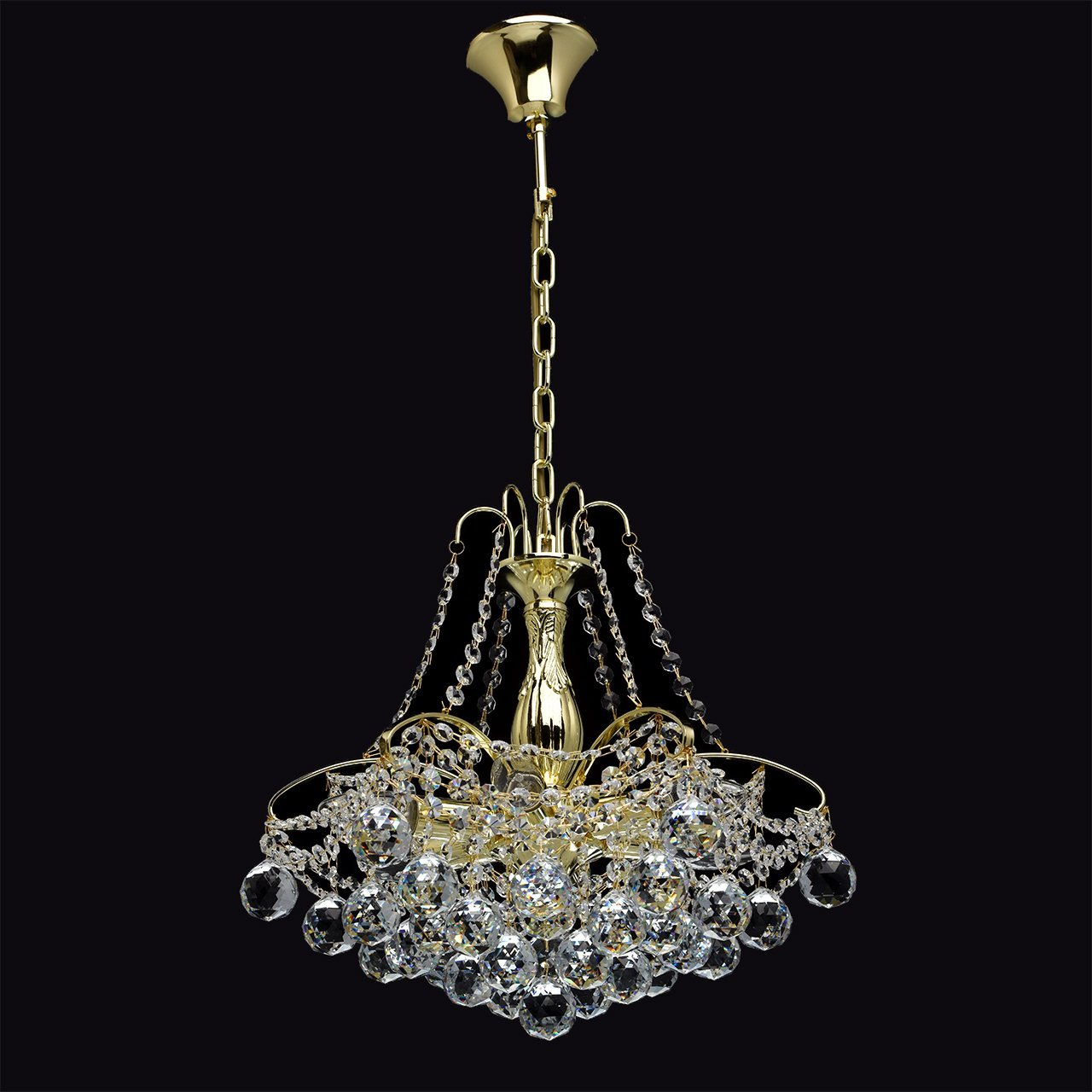 Milo 6 Light Chandelier In Gold