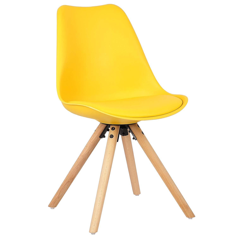 Mmilo Set Of 4 Tulip Dining Chair Star Shaped Wood Legs