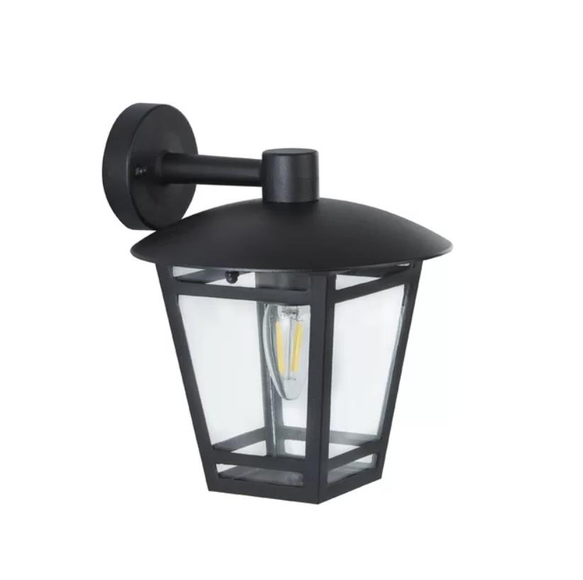 Details About The Lighting Collection 1 Light Outdoor Wall Lantern Black Cast Aluminium