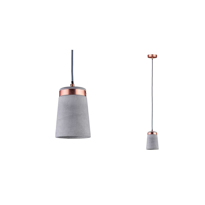 Details About Paulmann Neordic Stig 1ceiling Mini Pendant Light Copper With Concrete Shade