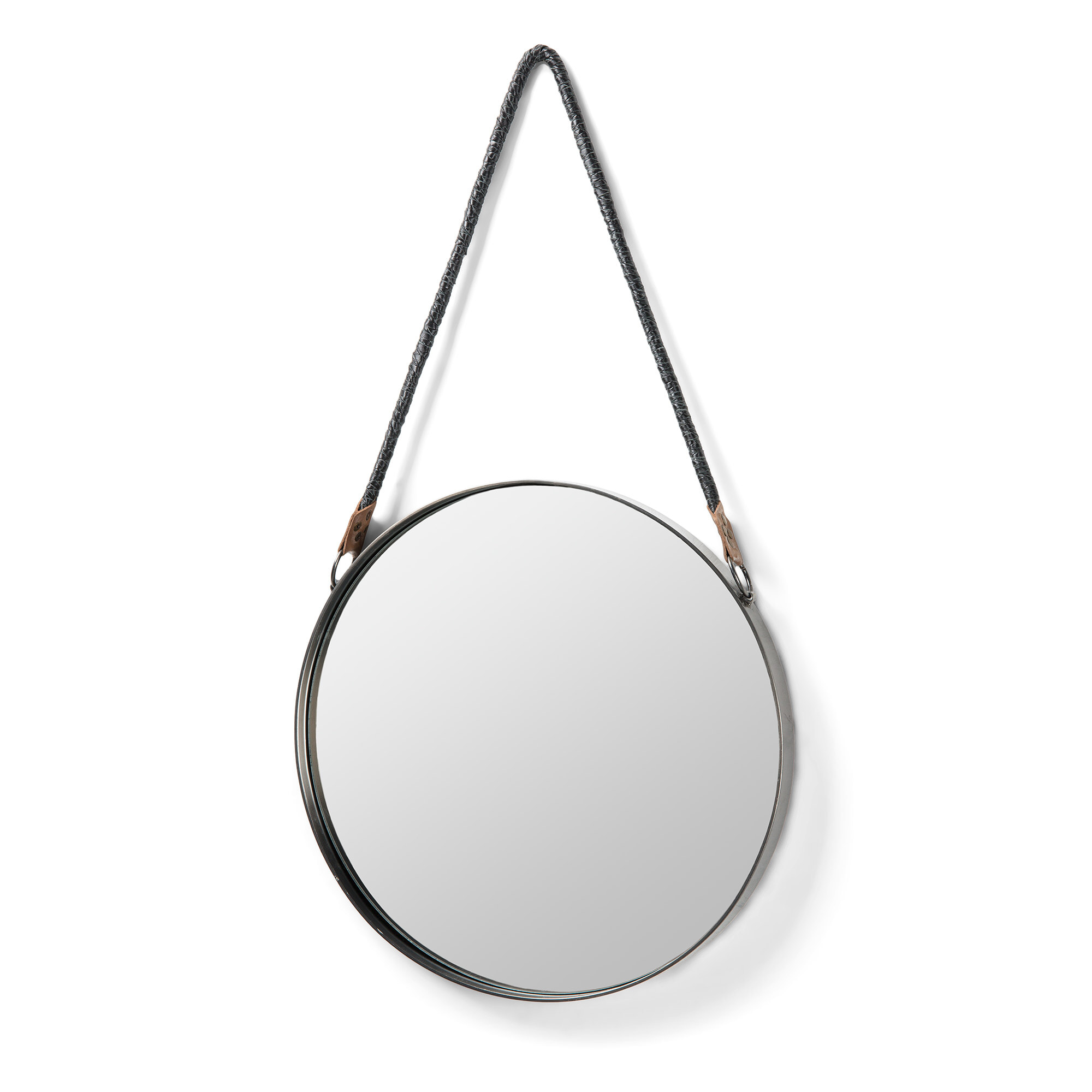 Kavehome Metal Round Accent Mirror Silver 39cm W X 4cm D Ebay