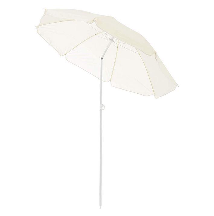 casa.pro ® Beach Umbrella//Sun Protection//Camping//Garden//Grey//With Break Joint