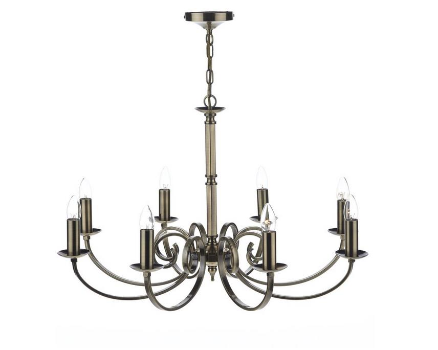 mur0875 murray 8 light chandelier antique brass fixture 50cm h x 80cm w x 80cm d