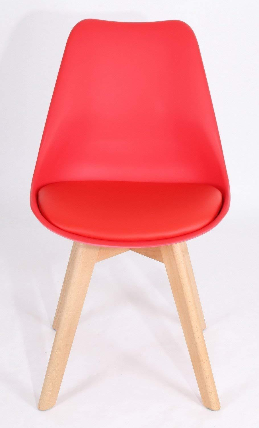 Mmilo Tulip Pyramid Dining Chairs with Solid Wood Legs ...