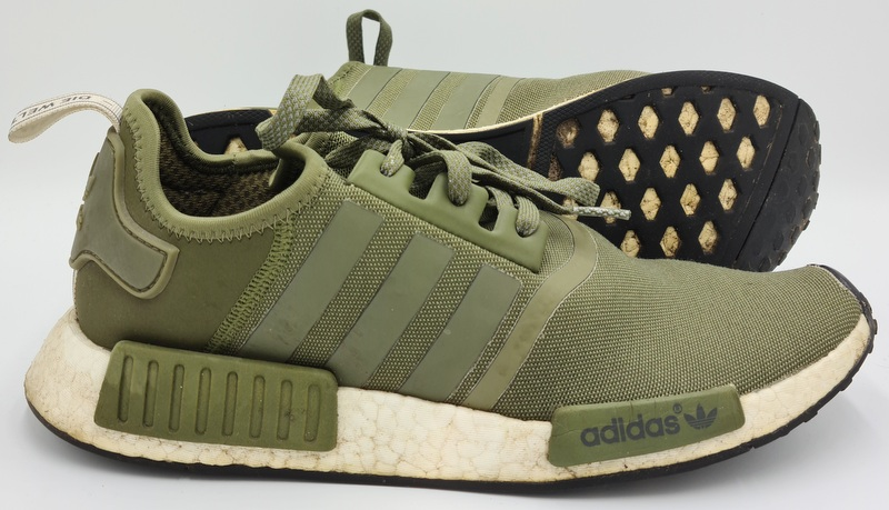 Details about Adidas NMD R1 Trainers Olive Cargo/White BY2504 UK10/US10.5/EU44.5