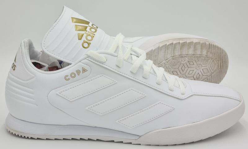 Adidas Copa Super Leather Trainers DB1880 Triple White/Gold UK11 ...