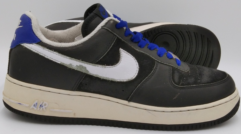 Nike Air Force 1 Leather Trainers Black
