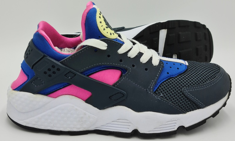 Catastrófico cargando cerca  Nike Air Huarache Leather Trainers 634835-046 Dark/Grey/Pink/Blue  UK5.5/US8/EU39 3183194192434 | eBay