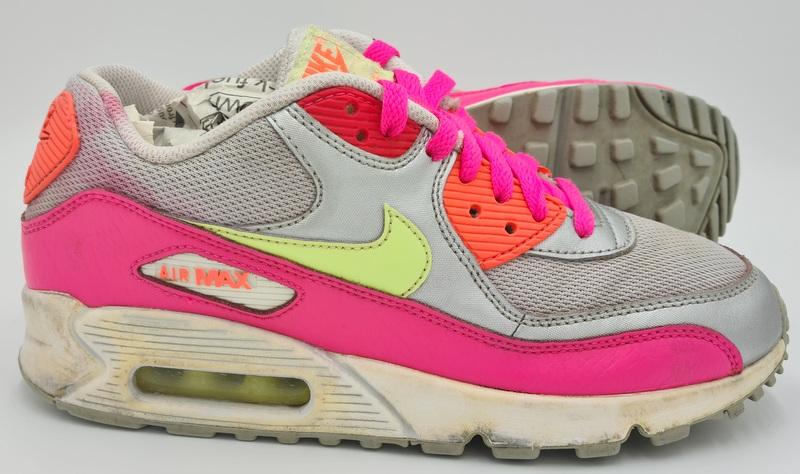 Nike Air Max 90 Mesh Trainers Silver/Pink/Grey 724855-001 UK5/US5 ...