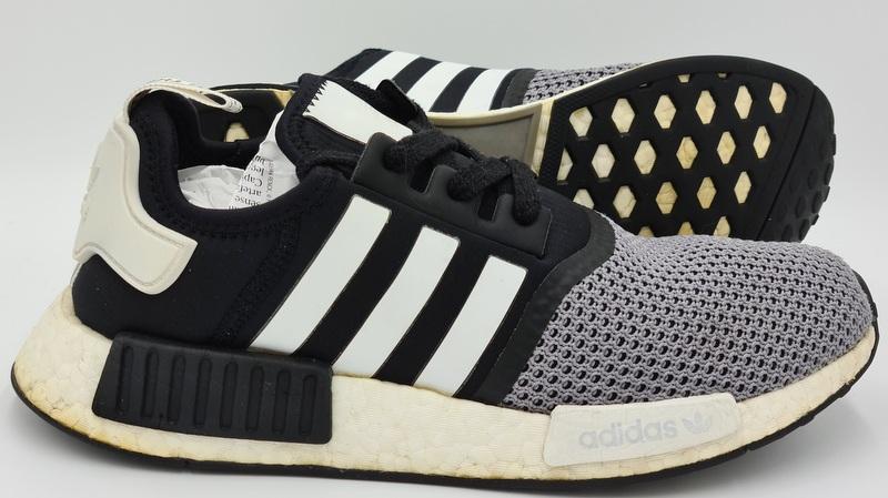 Adidas NMD R1 Trainers Grey/Black/White
