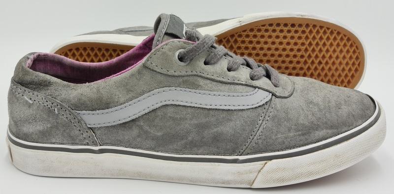 Vans Old Skool Grey Suede Trainers Gum