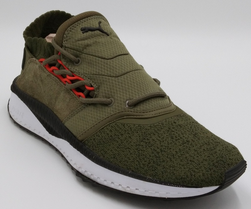 Détails sur Puma Tsugi Shinsei Ignite Trainers Olive GreenBlackWhite 36376003 UK8US9EU42