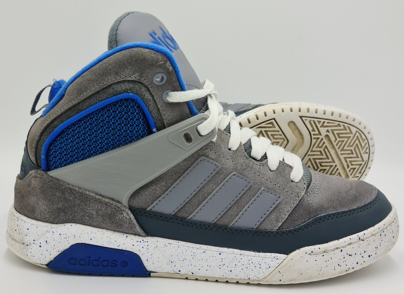 Adidas Neo CTX9TIS Basketball Suede Trainers F98556 Grey/Blue UK8 ...