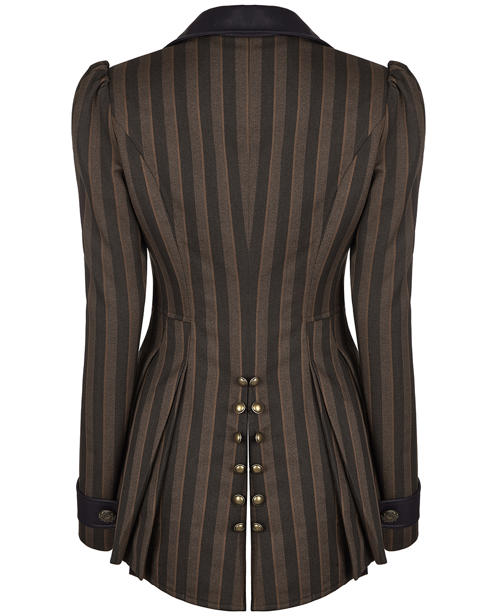 Steampunk Ladies jacket tatterpunk in brown