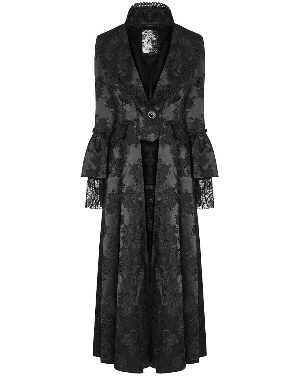 6bd812f69f6769 Details about Punk Rave Womens Long Gothic Jacket Coat Dress Black Steampunk  Victorian Regency