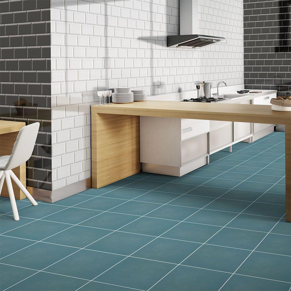 Chroma Pop Anti Slip Teal Green Ceramic Floor Tiles Sample | eBay