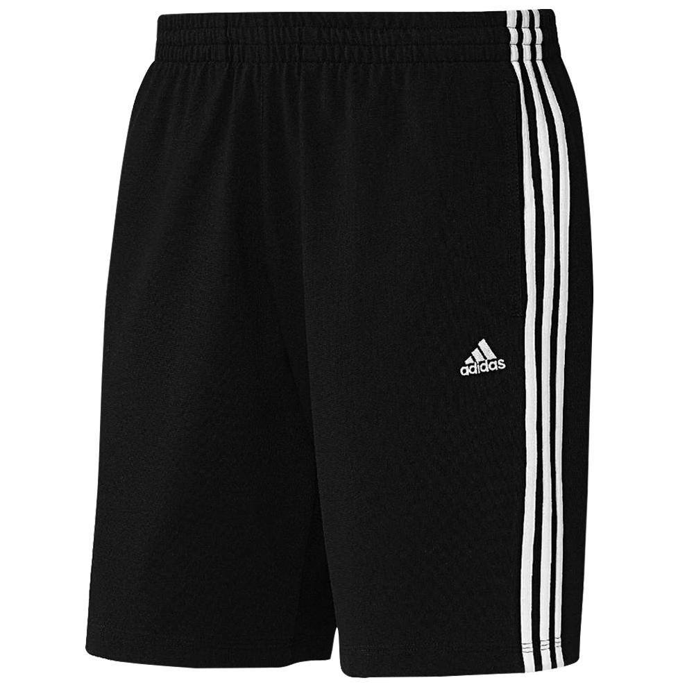 adidas-Men-039-s-3-Stripe-Climalite-Cotton-Training-Shorts-Fitness-Gym-Casual-XS-3XL miniature 4
