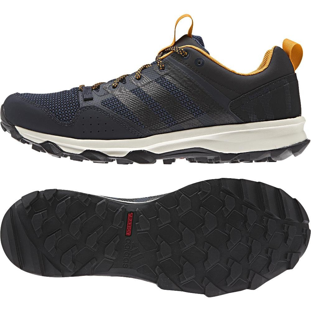 Adidas Kanadia Trail 7 Men's Running shoes Offroad Trainers Navy bluee