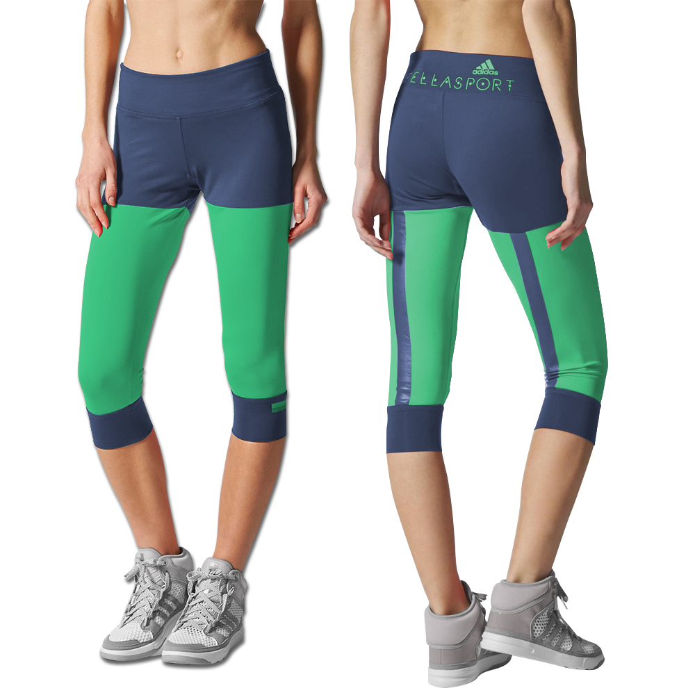 Adidas by Stella McCartney Stella Sport 3 / 4 color block Tights