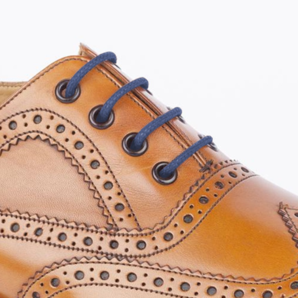 Cm Thin Wax Round Shoe Lace Tan