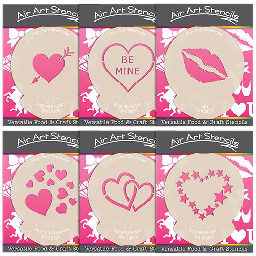 Valentines Day Stencils Love Heart Cake Craft Designs Wash And