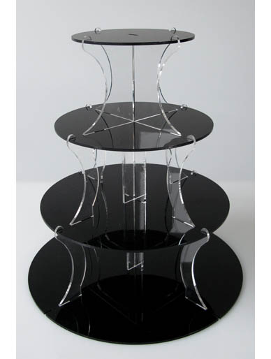 4 tier round wedding cake stand black cupcake stand 4 tier acrylic wedding cup cake 10381