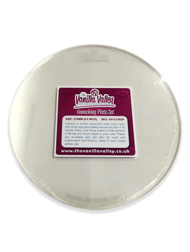 Ganaching Plate Round Acrylic Ganache Board Disc Cake