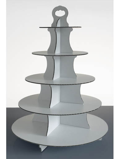 cardboard wedding cake stand 5 tier disposable white cardboard cup cake stands box of 12385