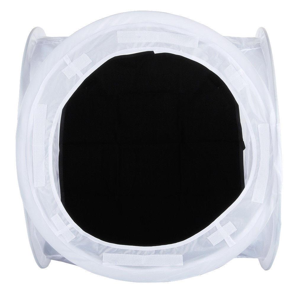 Fot-R portátil Softbox luz carpa cubo 80cm Color telones de fondo Gamuza Paño