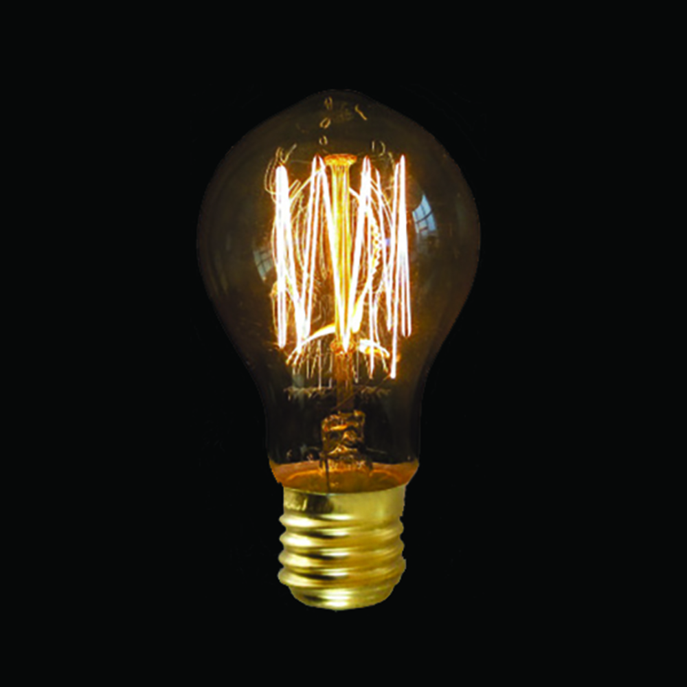 Vintage Light Bulb Antique Retro Christmas Edison Amber Filament Squirrel Cage Ebay