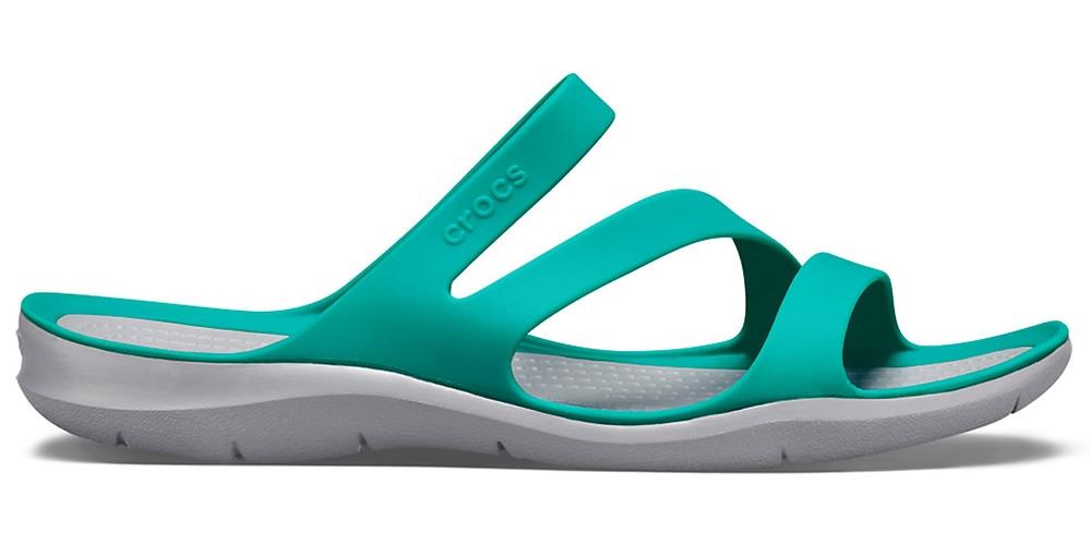 1309ec12401 Crocs Swiftwater Sandal Women - Tropical Teal Light Grey